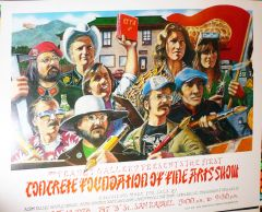 Concrete Foundation poster - 1978 - Mouse etc