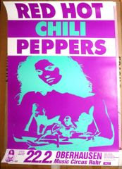 Red Hot Chili Peppers - German Tour Concert Poster