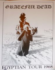 Grateful Dead - Egyptian Tour poster 1978 Jerry on a Camel