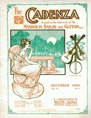 The Cadenza 1908 guitar banjo mandolin magazine