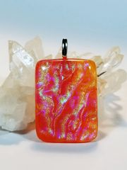 Dichroic Fused Glass Pendant: Summer Goddess