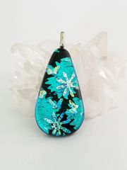 Dichroic Fused Glass Pendant: Spring Flowers