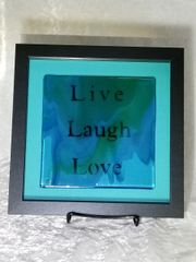 Framed Live, Laugh, Love on Glass