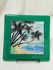 Fused glass Paintings: Hawaiian Shores