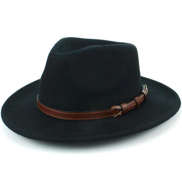 Wide brim Festival Hipster country style BLACK Fedora Hat 100% Wool by  Hawkins 57cm 58cm 59cm 60cm  35278603002