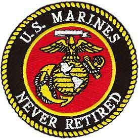"""U.S. Marines """"Never Retired"""" Patch"""