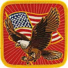 Eagle with Flag Patriotic Patch