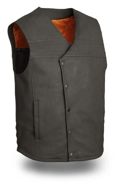 "Men's ""Jaguar"" Leather Vest"