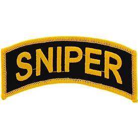 Army Sniper Tab Patch