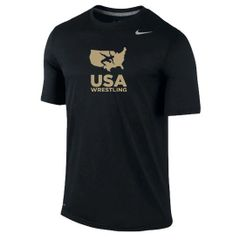 Nike Youth USAWR Team Legend Crew Training Dri-Fit Tee - Black/Gold