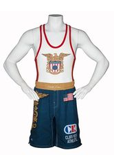 Cliff Keen Sublimated Navy Fight Shorts
