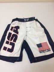 MyHouse USA Fight Shorts (Navy Band)