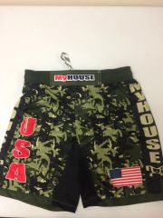 MyHouse Green/Black Camo Fight Shorts