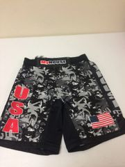 MyHouse Black/White Camo Fight Shorts