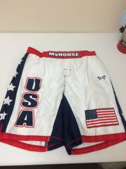 MyHouse USA Fight Shorts (Red Band)