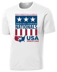Kids Freestyle & Greco National Event Shirt- White Dri-Fit