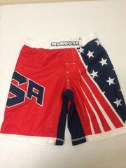 MyHouse USA Sublimated Fight Shorts (White Band)