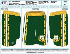 Green Bay Packers Inspired Fight Shorts