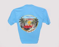 Red Corvette Tee - Light Blue