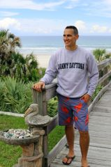 Heather Grey Sweatshirt, Distressed