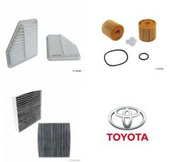 Lot of 2 Kits Air, Oil & Cabin Filter Kit fits Toyota Camry 6-cyl 2006-2011 #3E