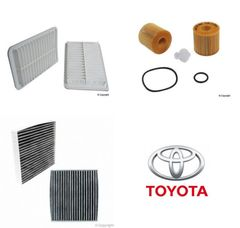 Lot of 2 Kits Air, Oil & Cabin Filter Kit fits Toyota Venza 2.7 2009-2015 #1V