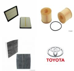 Lot of 2 Kits Air, Oil & Cabin Filter Kit fits Toyota Prius 2010-2017 #4