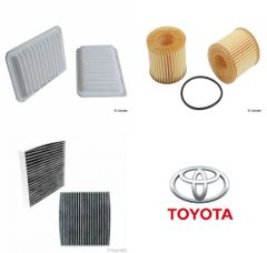 Lot of 2 Kits Air, Oil & Cabin Filter Kit fits Toyota Corolla 2007-2016 #5