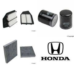 Lot of 2 Kits Air, Oil & Cabin Filter Kit fits Honda Accord 4cyl 2008-2012 #15E4