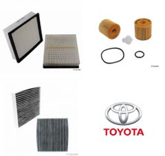 Lot of 2 Kits Air, Oil & Cabin Filter Kit fits Toyota Camry 6-cyl 2012-2017 #3L