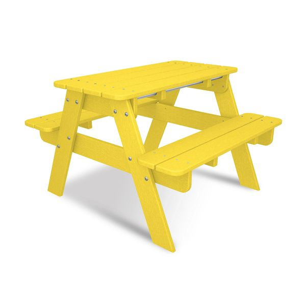 Kid Picnic Table Lemon Polywood Shopfireside Grills Smokers - Polywood kids picnic table