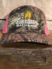 Fireside Camo Cap w/Pink Mesh