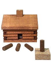 Cabin Incense Burner w/ 10 sticks