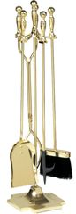 Uniflame 5 PC Polished Brass Tool Set