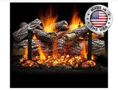 Live Oak Gas Log Set by Heatmaster