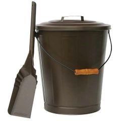 Bronze Ash Bin & Shovel
