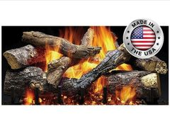 Fireside Grand Oak Charred Gas Log Kit