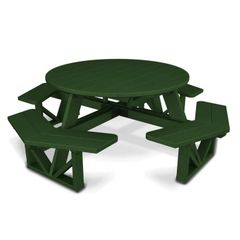 "Polywood Park 53"" Octagon Picnic Table"
