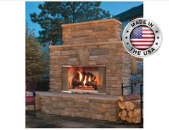 Outdoor Lifestyles Montana Outdoor Wood Fireplace