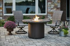 Outdoor GreatRoom Company Marbleized Noche Beacon Fire Pit Table
