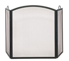 Uniflame 3 Panel Wrought Iron Arch Top Fireplace Screen
