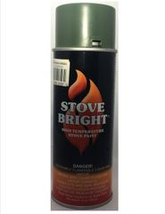 Stove Bright Fireplace Paint - Moss Green Metallic