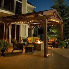 Outdoor GreatRoom Lodge II Pergola (14' X 14')