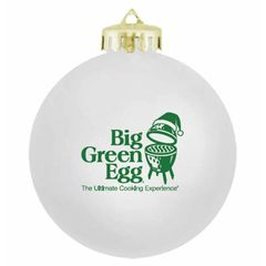 The Big Green EGG White Christmas Ornament
