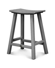 "Polywood 24"" Traditional Saddle Bar Stool"