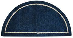 Deep Blue Hand-Tufted 100% Wool Hearth Rug