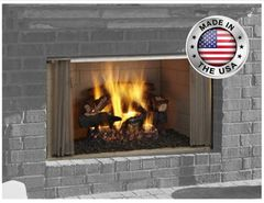 Outdoor Lifestyles VillaWood Outdoor Wood Fireplace