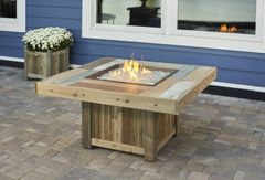 Outdoor GreatRoom Company Square Vintage Fire Pit Table