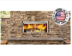 Outdoor Lifestyles Longmire Wood Outdoor Fireplace