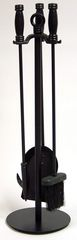 Uniflame 4 Piece Black Wrought Iron Fireset